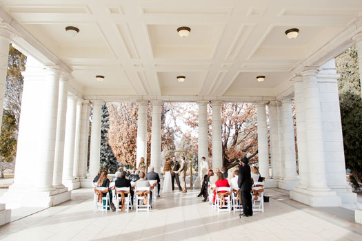 An Intimate Wedding on Valentine's Day in the Park - Denver Colorado