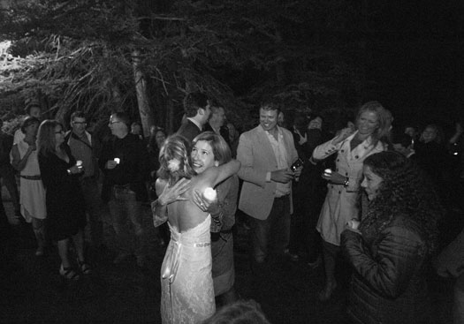 A Surprise Night Wedding Shot in Black & White, Vail Colorado
