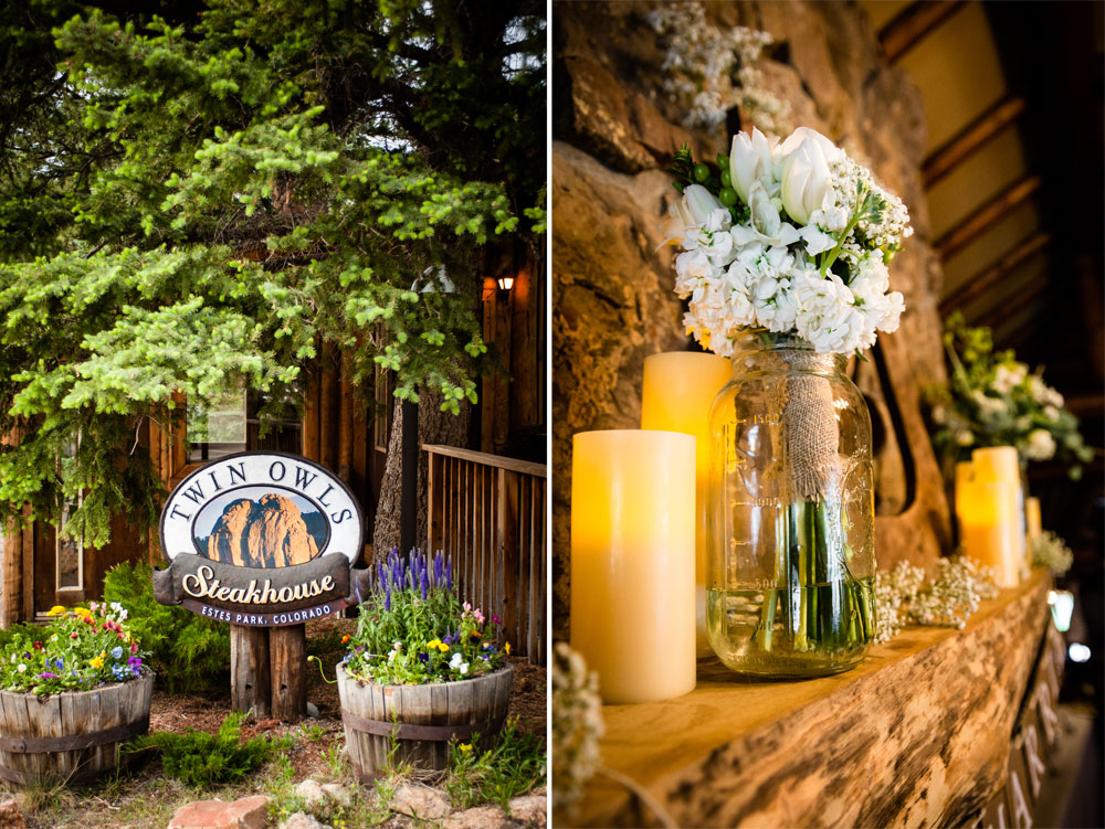 A Simple Mountain Rustic Wedding at Twin Owls Steakhouse, Estes ark Colorado