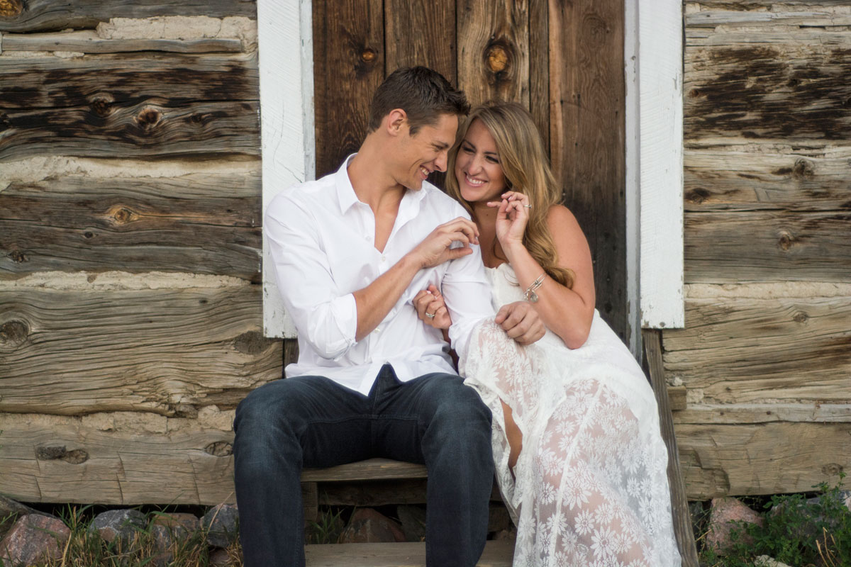 Golden Colorado Engagement Shoot - High school sweethears reunite