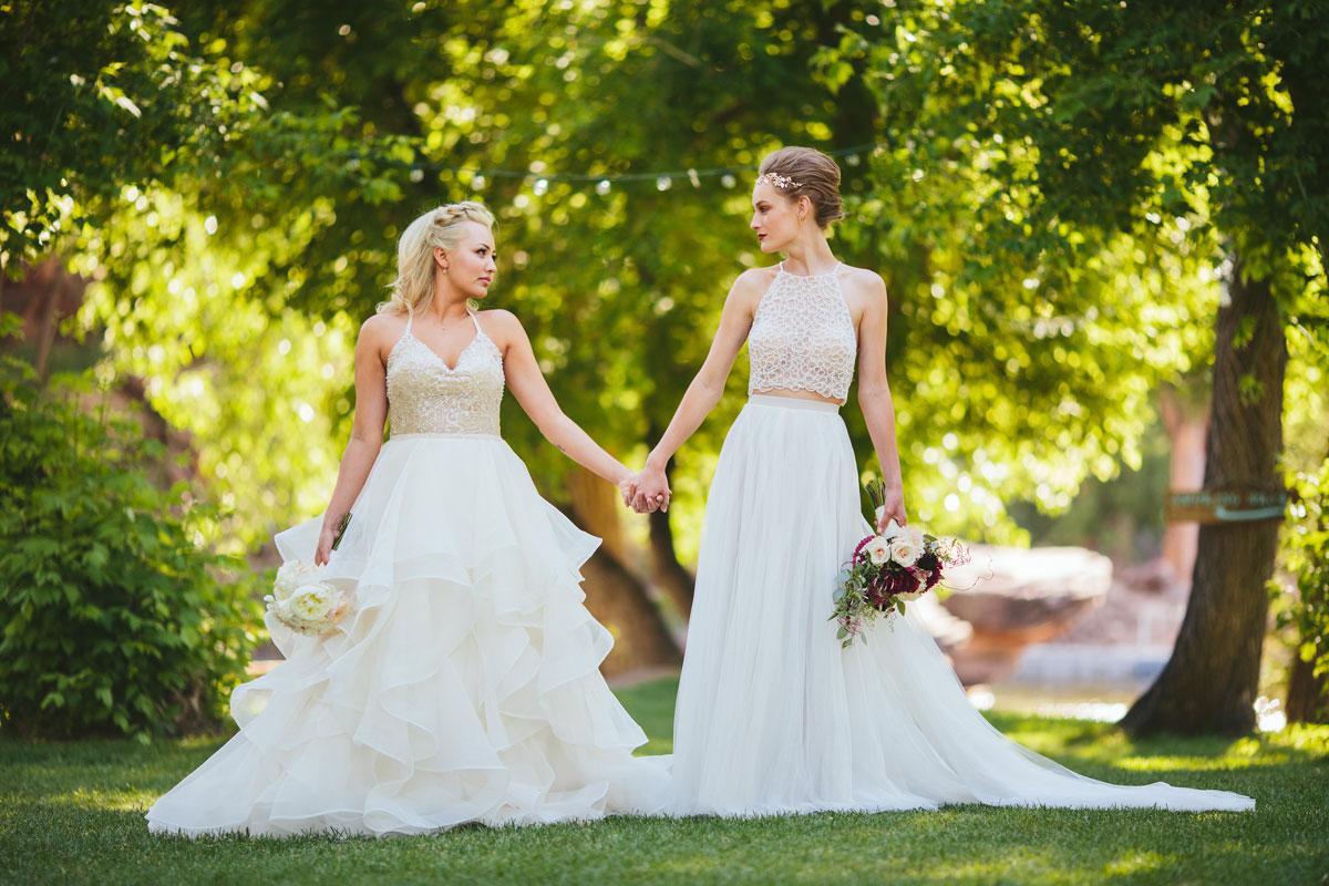 Modern Lesbian Wedding Couple