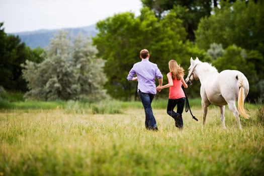 Equestrian Engagement Shoot, Denver Colorado