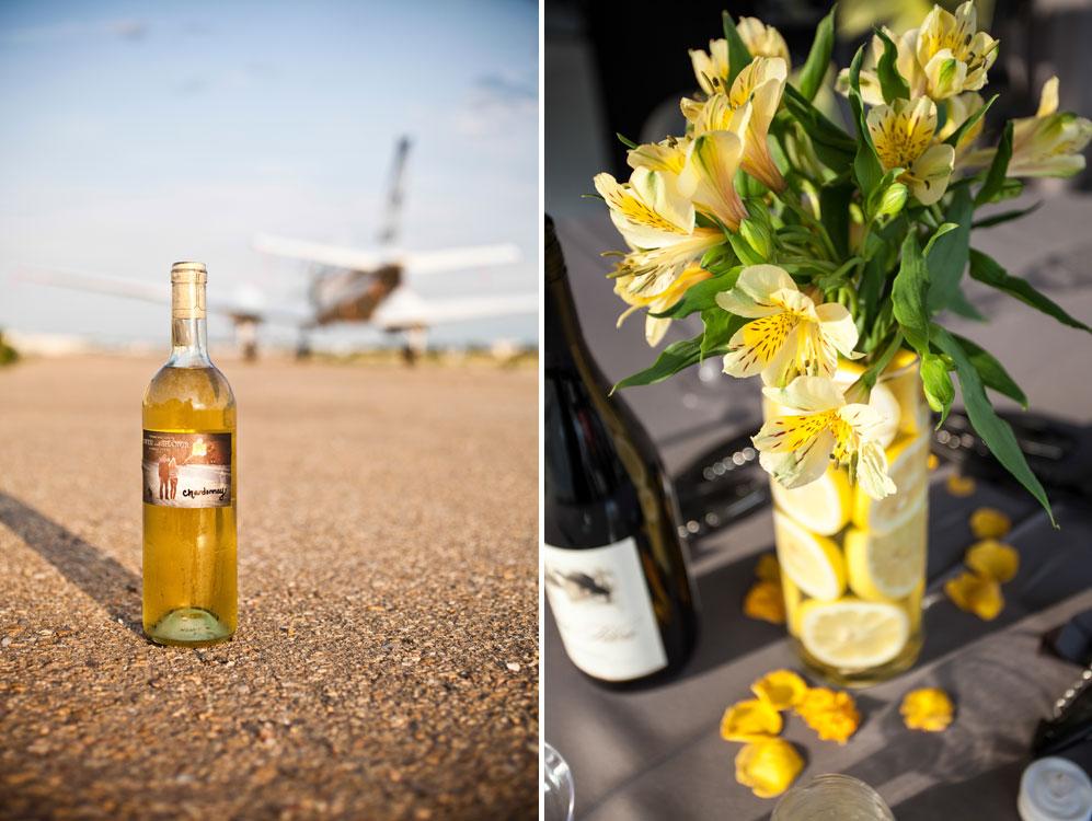 Colorado Wedding - skydiving, grey & yellow, sunflowers