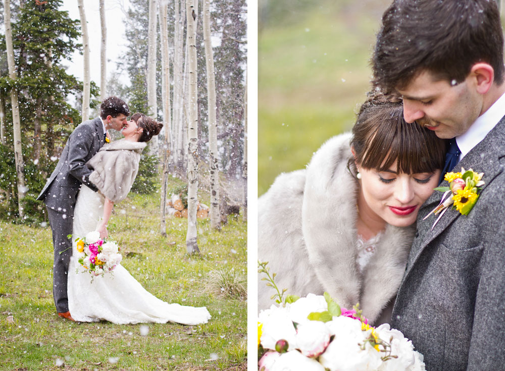 Snowy Spring Mountain Wedding, Ouray Colorado