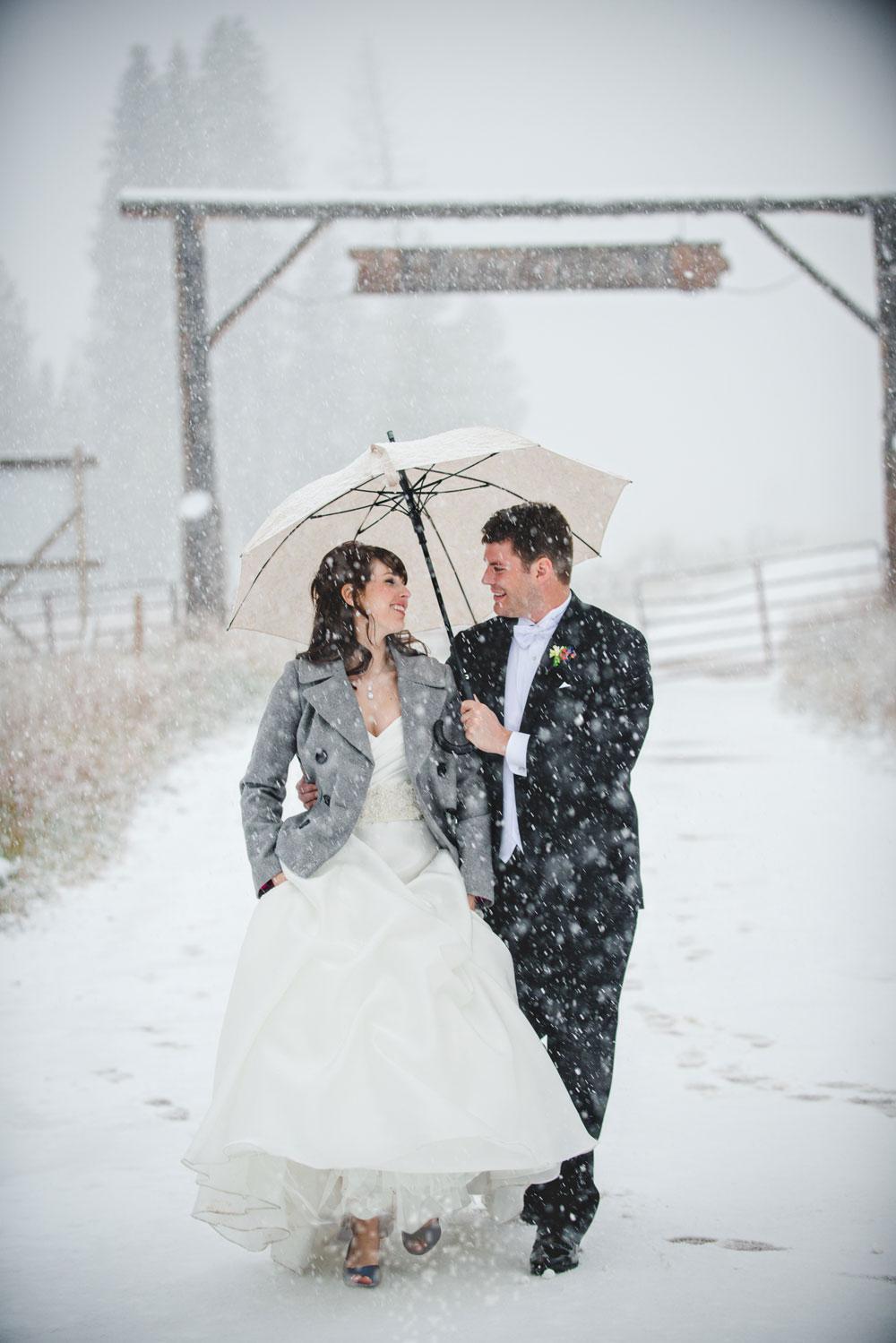 An Autumn-Meets-Winter-Wonderland Wedding, Vail Colorado