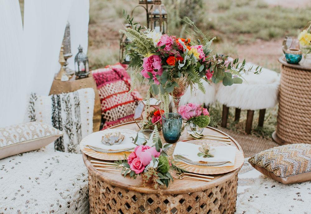 Intimate Red Rocks Moroccan Wedding Inspiration in Colorado