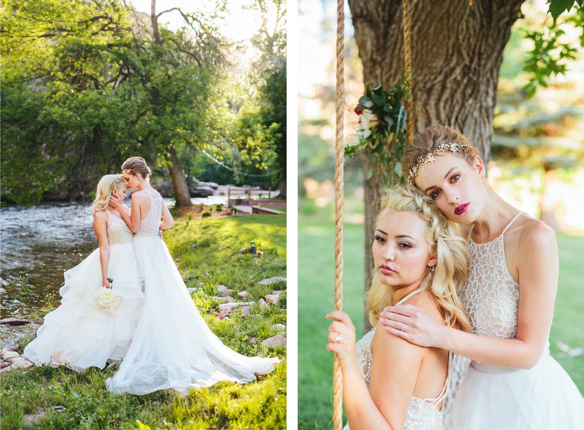 A Modern Lesbian Wedding Styled Shoot