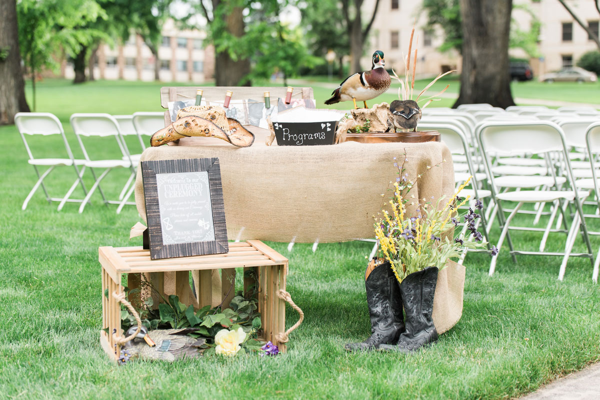 Hunting-Inspired Wedding at Colorado State University